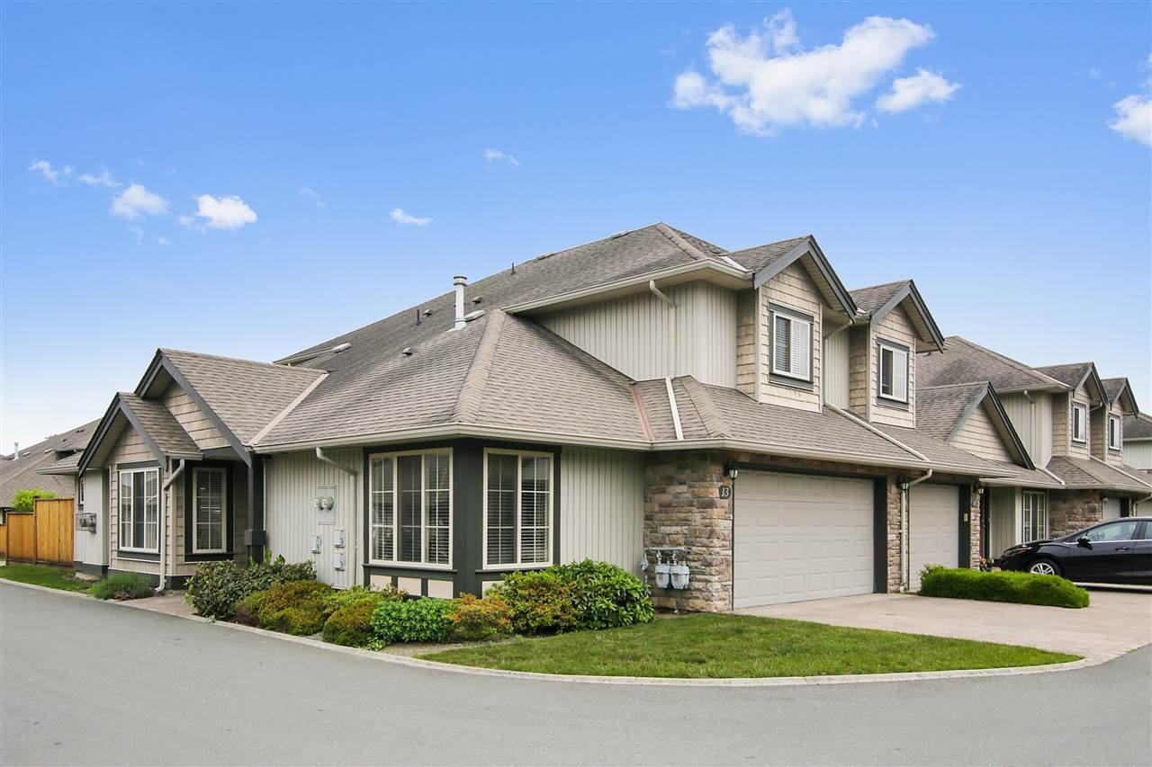 "Main Photo: 13 6449 BLACKWOOD Lane in Sardis: Sardis West Vedder Rd Townhouse for sale in ""Cedar Park"" : MLS®# R2375864"