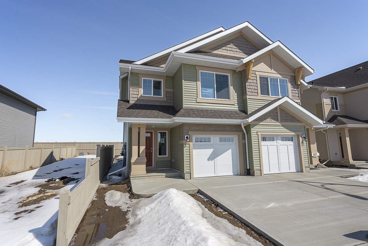 Main Photo: 699 Eagleson Crescent in Edmonton: Zone 57 House Half Duplex for sale : MLS®# E4193980