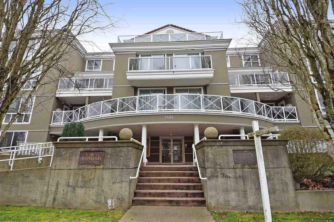 "Main Photo: 108 2485 ATKINS Avenue in Port Coquitlam: Central Pt Coquitlam Condo for sale in ""THE ESPLANADE"" : MLS®# R2045683"