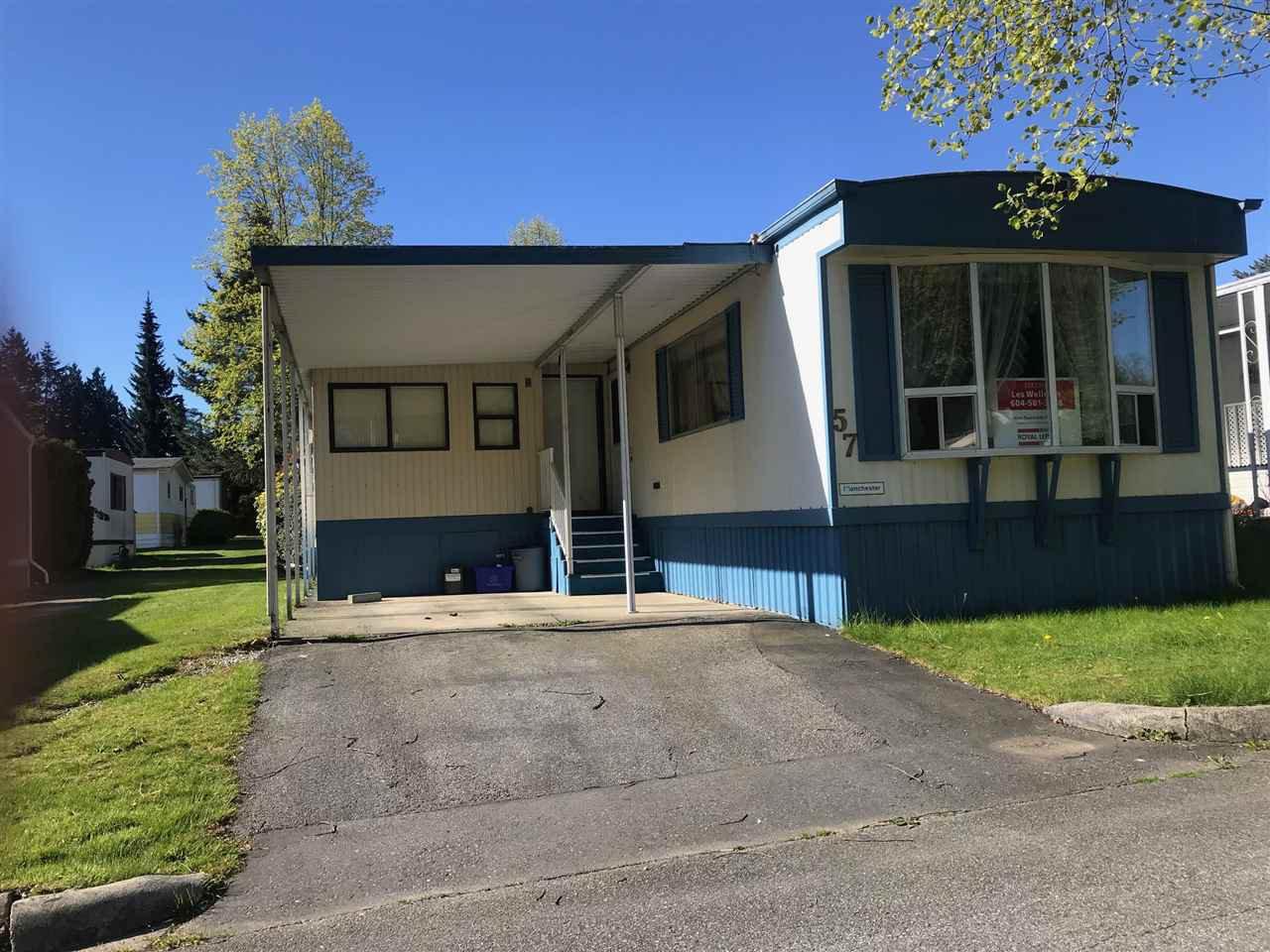 "Main Photo: 57 7850 KING GEORGE Boulevard in Surrey: East Newton Manufactured Home for sale in ""Bear Creek Glen"" : MLS®# R2350605"