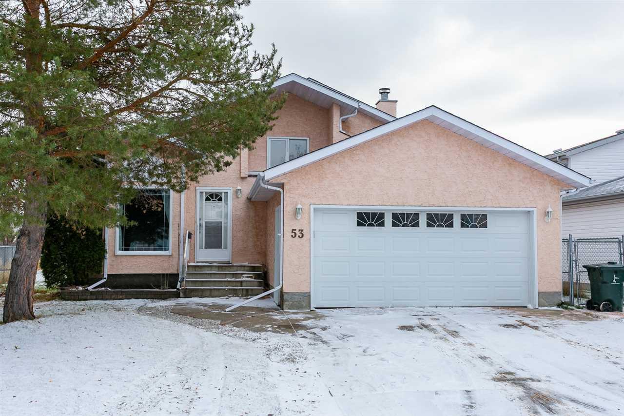 Main Photo: 53 GLENWOOD Crescent: Stony Plain House for sale : MLS®# E4179188
