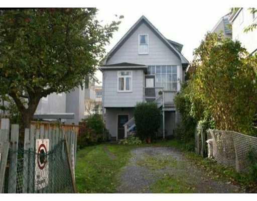 Main Photo: 2117 W 1ST AV in : Kitsilano House for sale : MLS®# V511231
