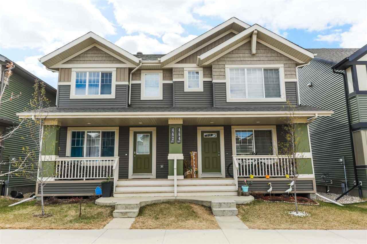 Main Photo: 462 ORCHARDS Boulevard in Edmonton: Zone 53 House Half Duplex for sale : MLS®# E4193854