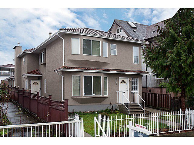 Main Photo: 2130 ADANAC STREET in Vancouver: Hastings House 1/2 Duplex for sale (Vancouver East)  : MLS®# R2050168