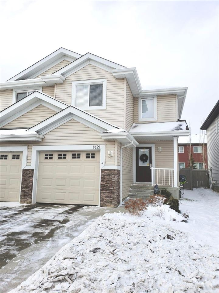 Main Photo: 1321 CUNNINGHAM Drive in Edmonton: Zone 55 House Half Duplex for sale : MLS®# E4183156