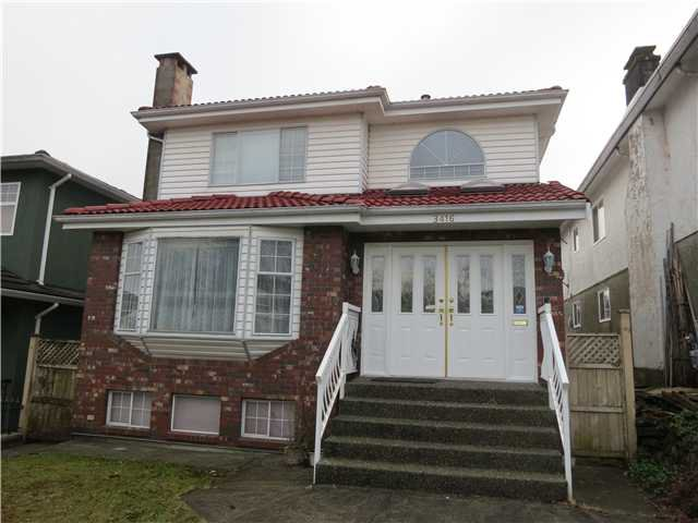 Main Photo: 3416 E 4TH AV in Vancouver: Renfrew VE House for sale (Vancouver East)  : MLS®# V1099526