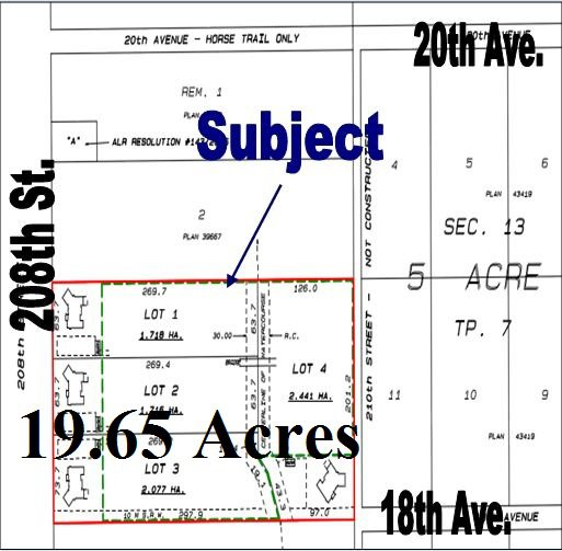 Main Photo: 1854 208 St in Langley: Land for sale