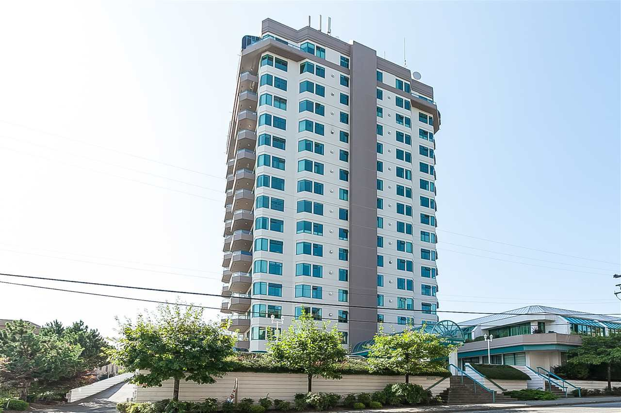 "Main Photo: 1404 32440 SIMON Avenue in Abbotsford: Abbotsford West Condo for sale in ""Trethewey Tower"" : MLS®# R2461982"