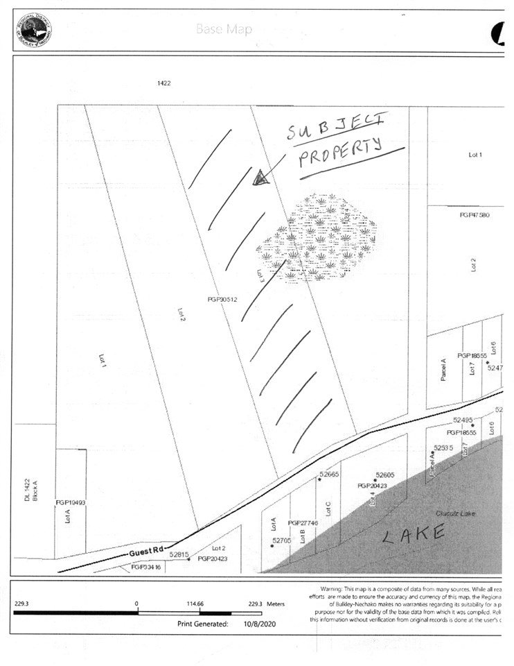 Main Photo: LOT 3 GUEST Road: Cluculz Lake Land for sale (PG Rural West (Zone 77))  : MLS®# R2506409