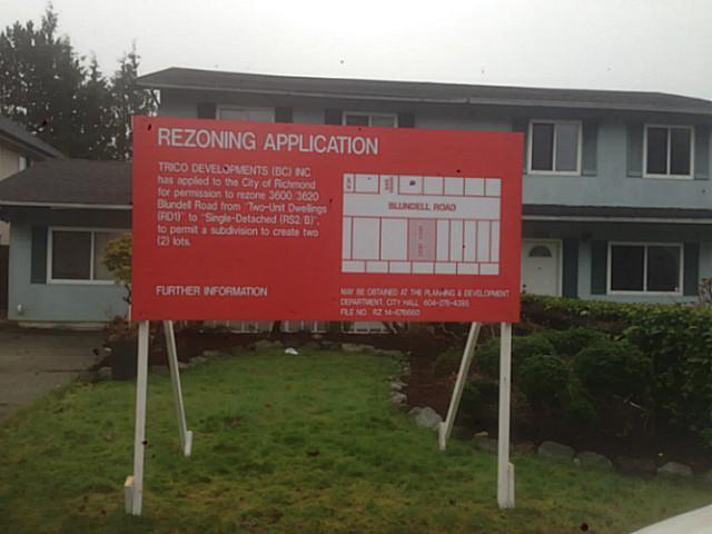 Main Photo: 3620 BLUNDELL RD in Richmond: Seafair 1/2 Duplex for sale : MLS®# V1121015