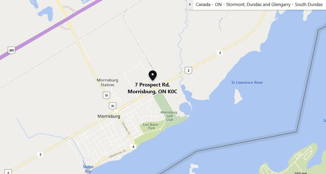 Main Photo: 7 Prospect in Morrisburg: Industrial for sale (MORRISBURG)