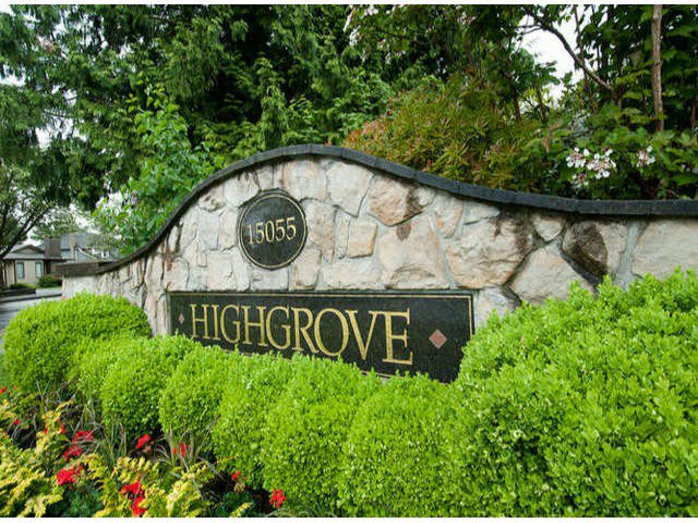 """Main Photo: 56 15055 20TH Avenue in Surrey: Sunnyside Park Surrey Townhouse for sale in """"HIGHGROVE (2ND PHASE)"""" (South Surrey White Rock)  : MLS®# F1311704"""
