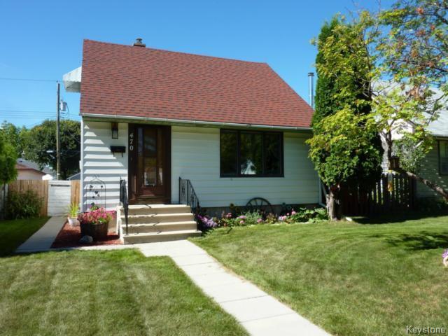 Main Photo: 470 Radford Street in WINNIPEG: North End Residential for sale (North West Winnipeg)  : MLS®# 1319251