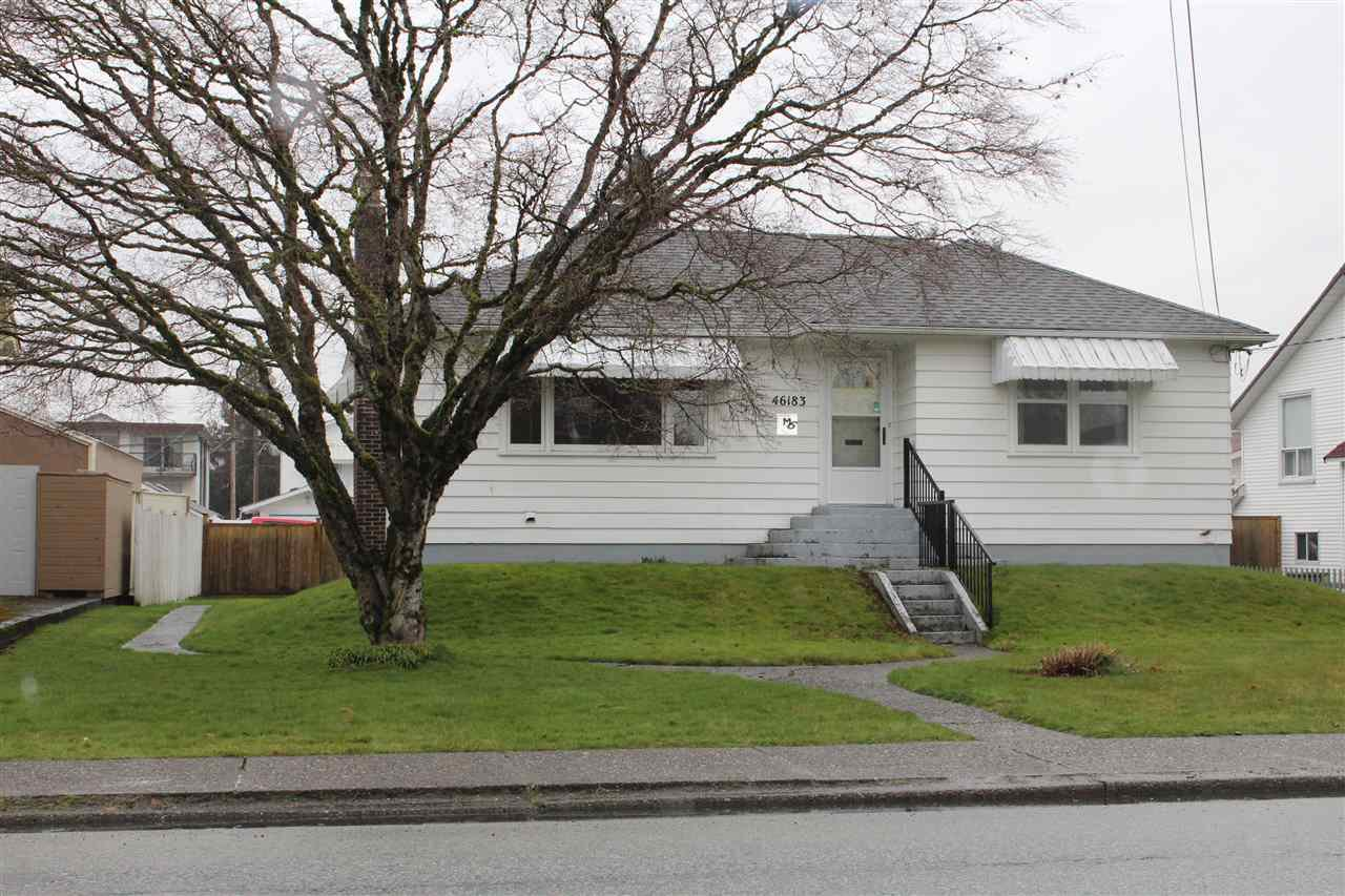 Main Photo: 46183 FIRST Avenue in Chilliwack: Chilliwack E Young-Yale House for sale : MLS®# R2441351