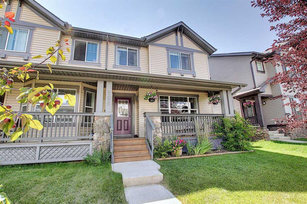 Main Photo: 294 LUXSTONE Way SW: Airdrie Semi Detached for sale : MLS®# A1019492