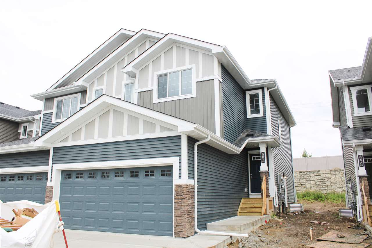 Main Photo: 851 EBBERS Crescent in Edmonton: Zone 02 House Half Duplex for sale : MLS®# E4173866