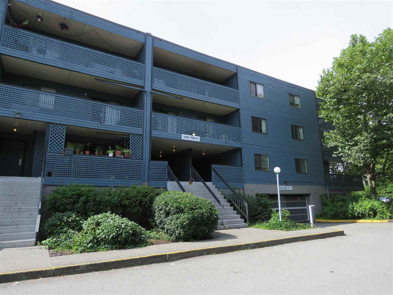 "Main Photo: 208 5906 176A Street in Surrey: Cloverdale BC Condo for sale in ""WYNDAM ESTATES"" (Cloverdale)  : MLS®# R2486082"