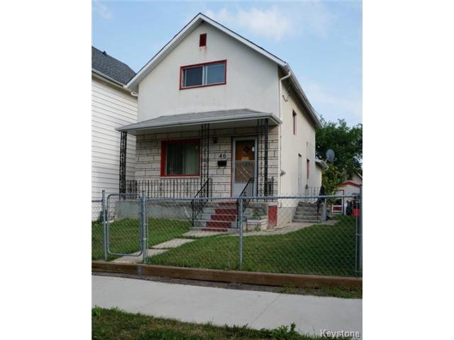 Main Photo: 46 Hallet Street in WINNIPEG: North End Residential for sale (North West Winnipeg)  : MLS®# 1419314