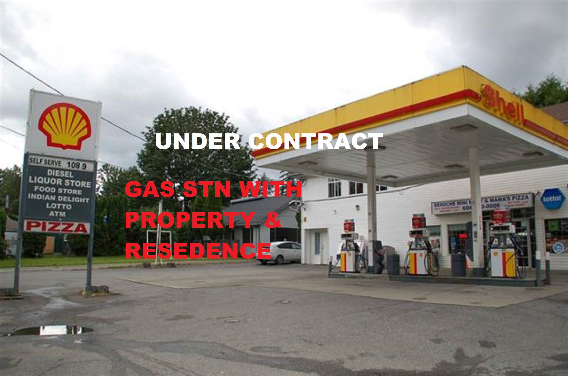Main Photo: Exclusive Shell Gas Station with Liquor Store: Business with Property for sale