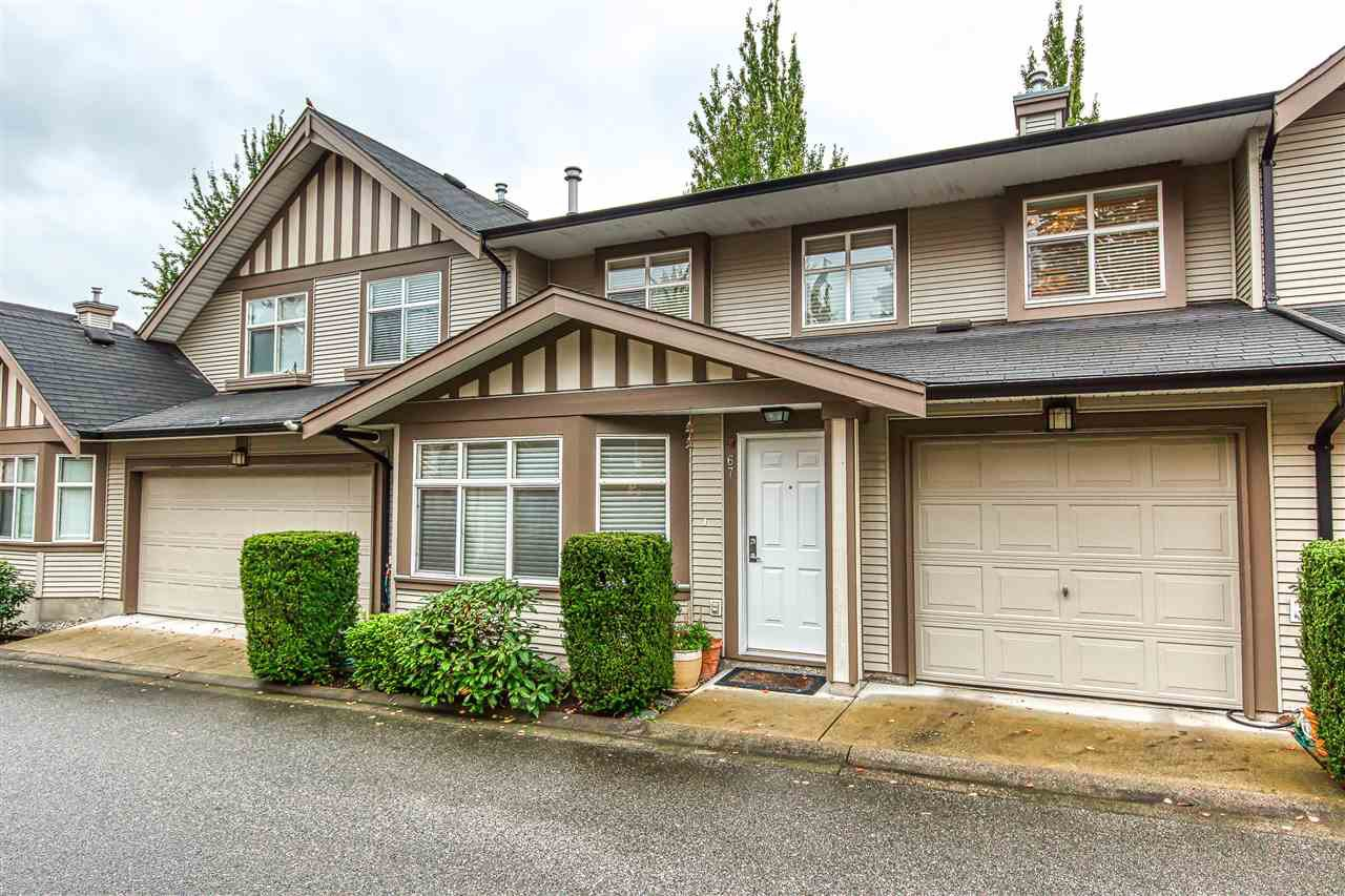 "Main Photo: 67 15968 82 Avenue in Surrey: Fleetwood Tynehead Townhouse for sale in ""SHELBOURNE LANE"" : MLS®# R2411791"