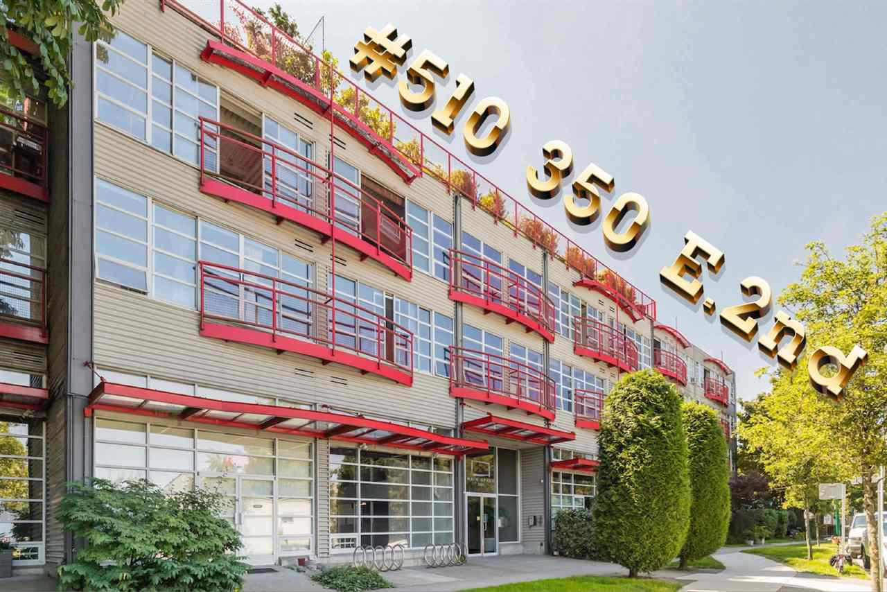 """Main Photo: 510 350 E 2ND Avenue in Vancouver: Mount Pleasant VE Condo for sale in """"MAINSPACE LOFTS"""" (Vancouver East)  : MLS®# R2478803"""
