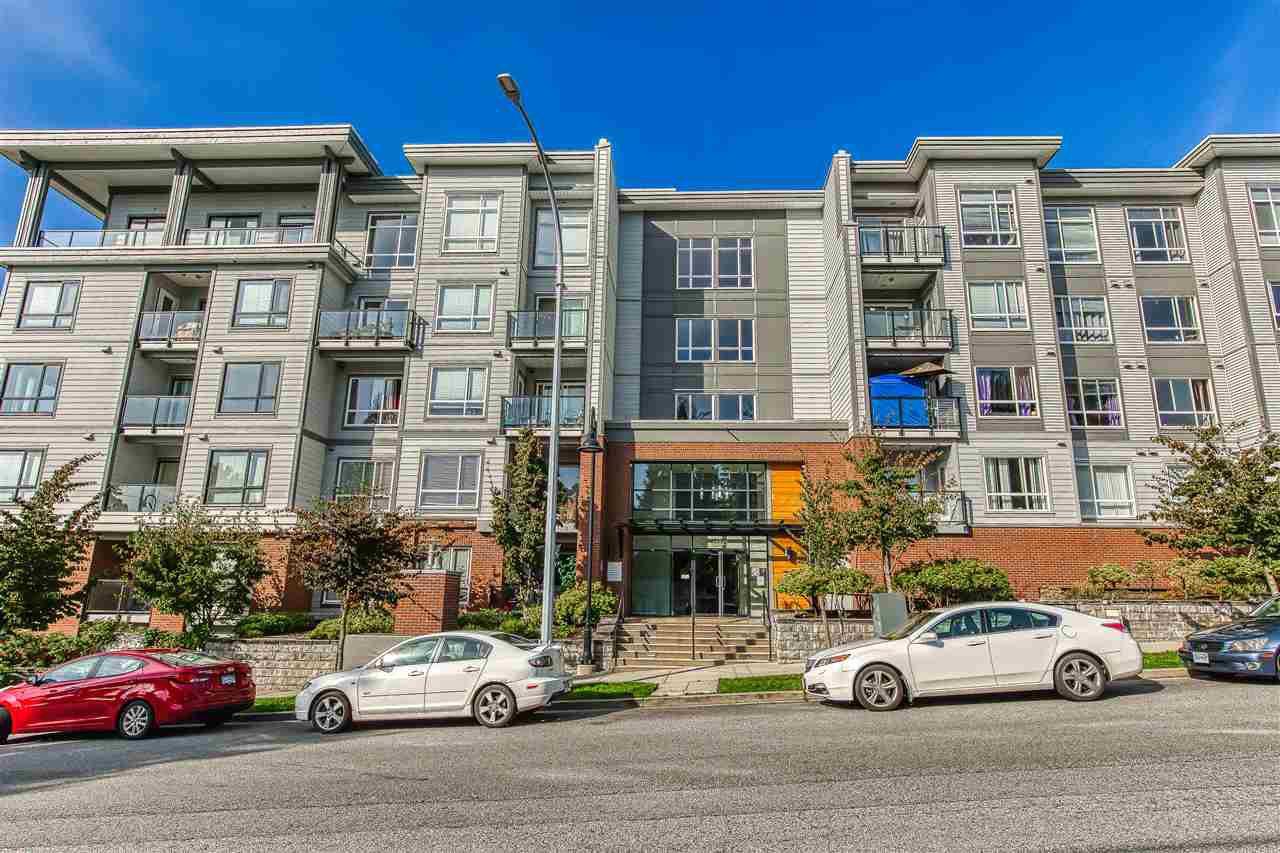 "Main Photo: 414 13733 107A Avenue in Surrey: Whalley Condo for sale in ""Quattro"" (North Surrey)  : MLS®# R2408176"