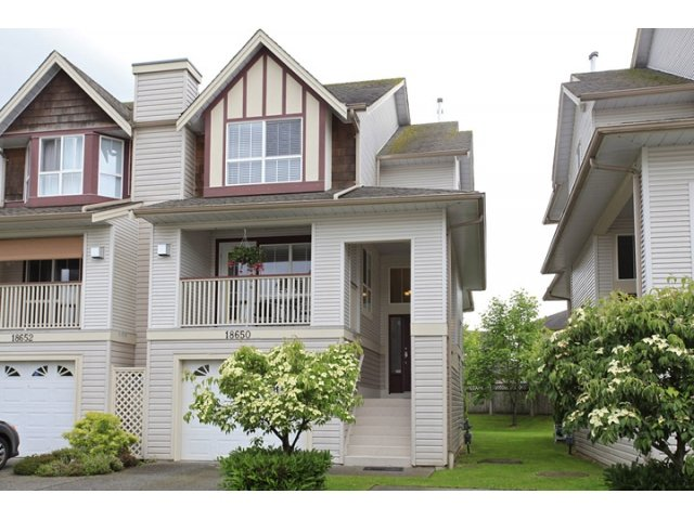 "Main Photo: 18650 65TH Avenue in SURREY: Cloverdale BC Townhouse for sale in ""RIDGEWAY"" (Cloverdale)  : MLS®# F1215322"