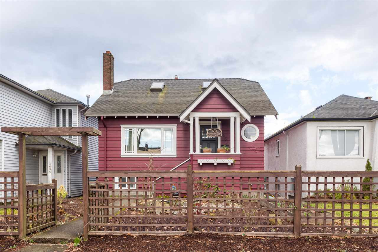 Main Photo: 2663 WILLIAM STREET in Vancouver: Renfrew VE House for sale (Vancouver East)  : MLS®# R2042488