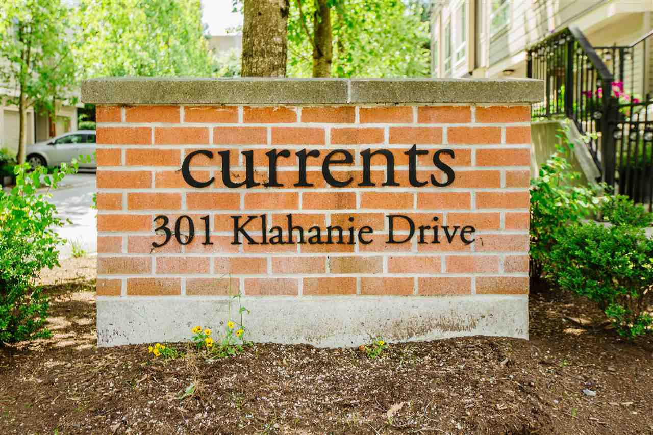 """Main Photo: 14 301 KLAHANIE Drive in Port Moody: Port Moody Centre Townhouse for sale in """"CURRENTS AT KLAHANIE"""" : MLS®# R2478095"""