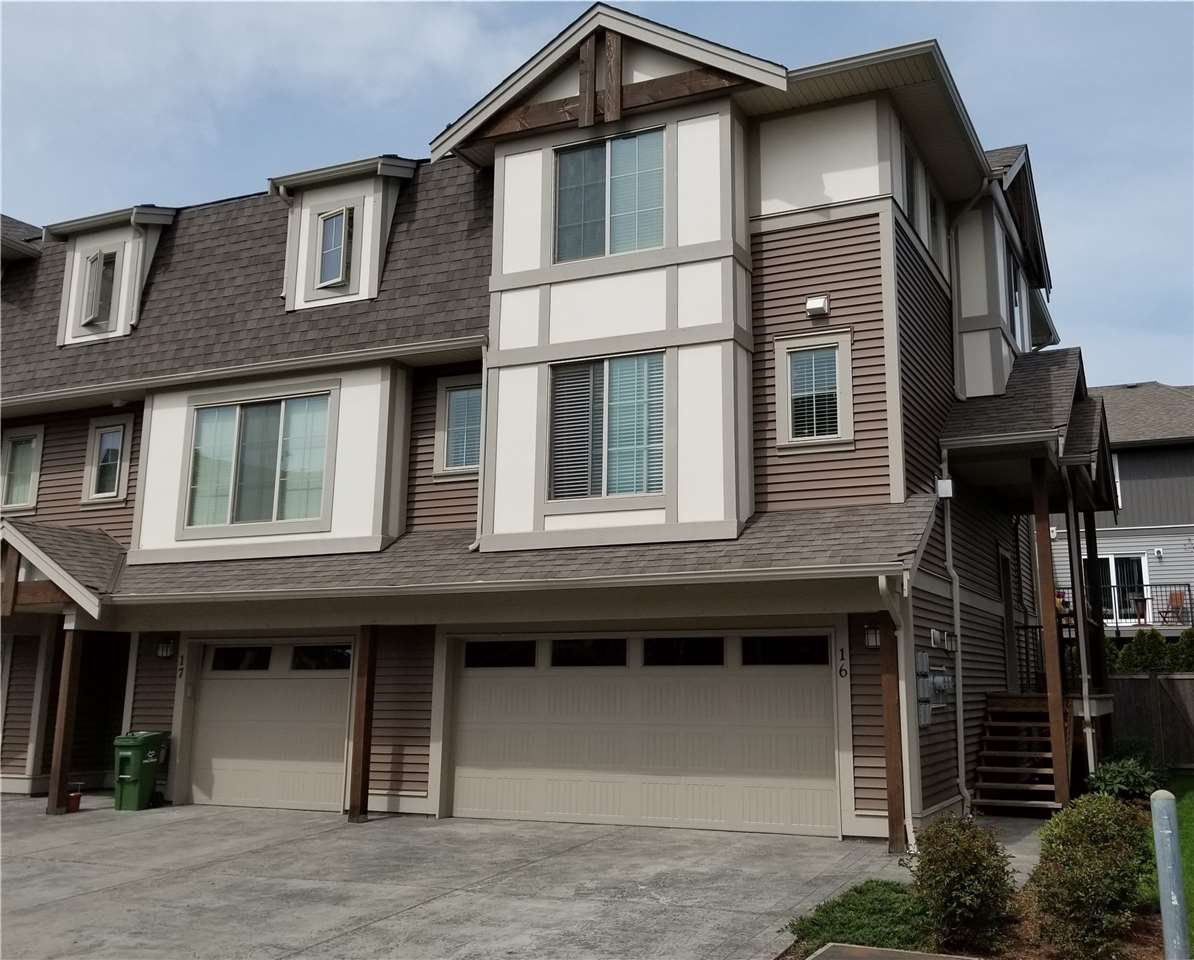 Main Photo: 16 45025 WOLFE ROAD in Chilliwack: Chilliwack W Young-Well Townhouse for sale : MLS®# R2259630