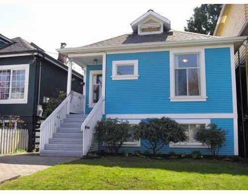 Main Photo: 1572 13TH Ave in Vancouver East: Grandview VE Home for sale ()  : MLS®# V761934