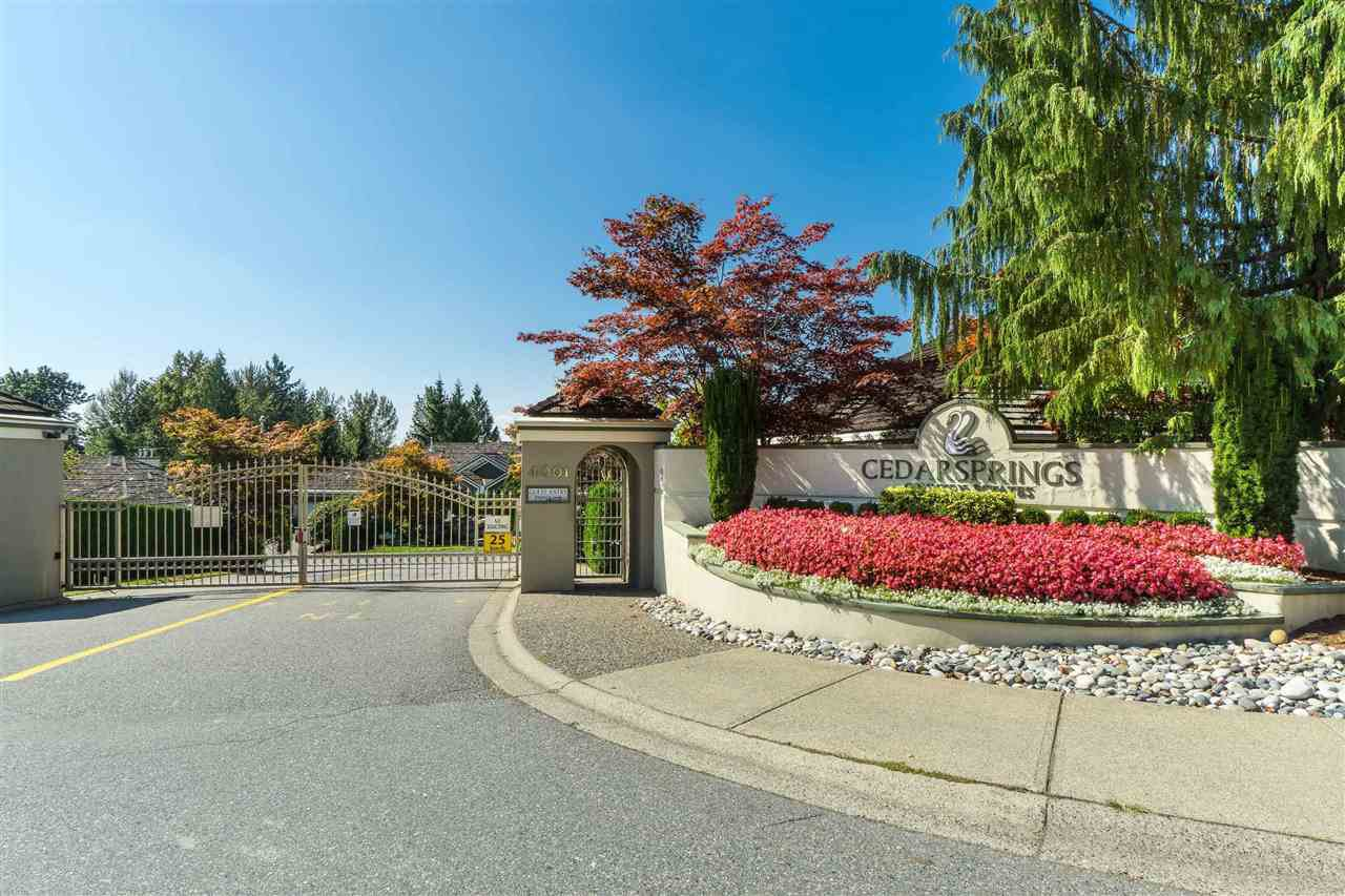 "Main Photo: 62 4001 OLD CLAYBURN Road in Abbotsford: Abbotsford East Townhouse for sale in ""CEDAR SPRINGS"" : MLS®# R2513100"