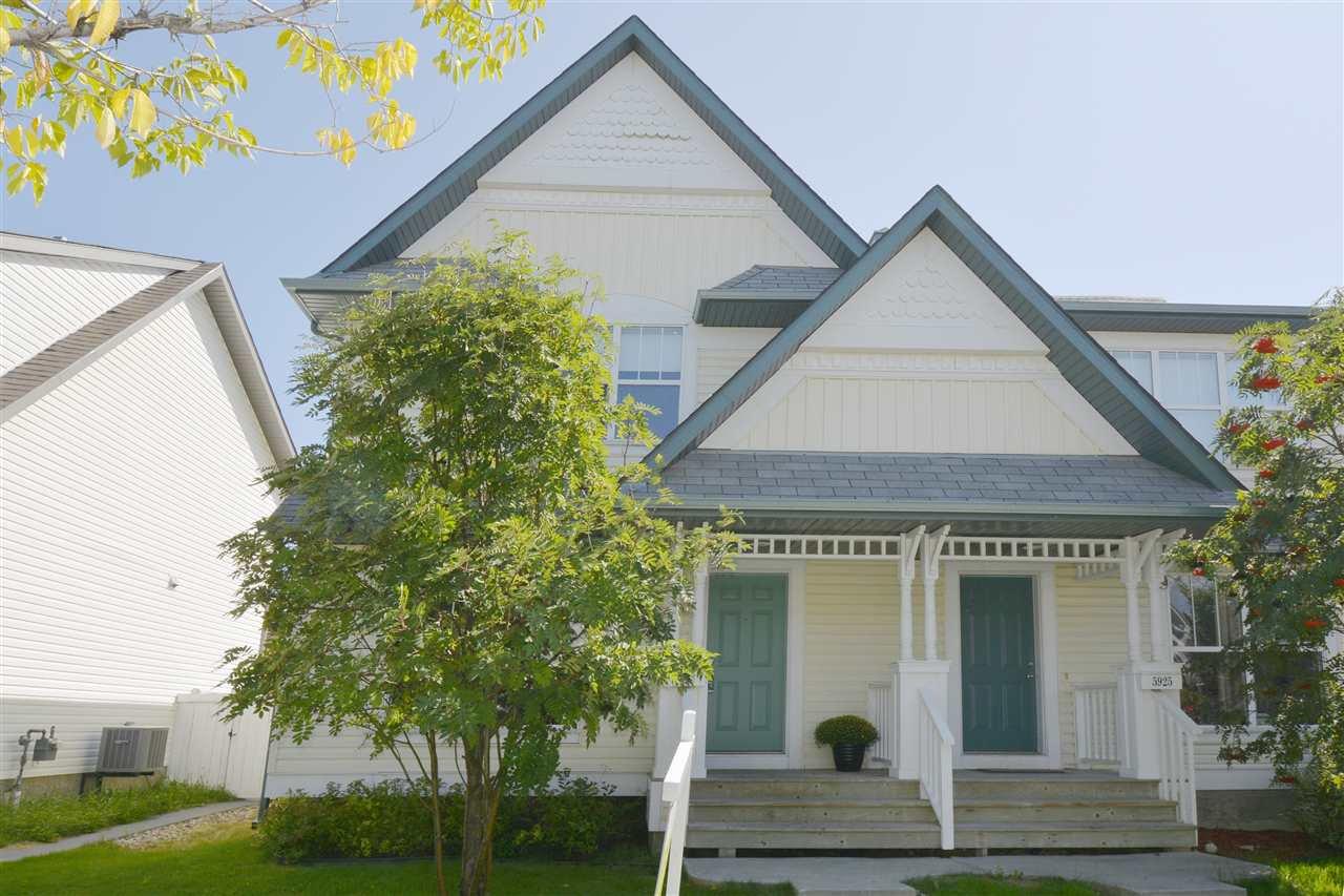 Main Photo: 5923 SOUTH TERWILLEGAR Boulevard in Edmonton: Zone 14 House Half Duplex for sale : MLS®# E4170842