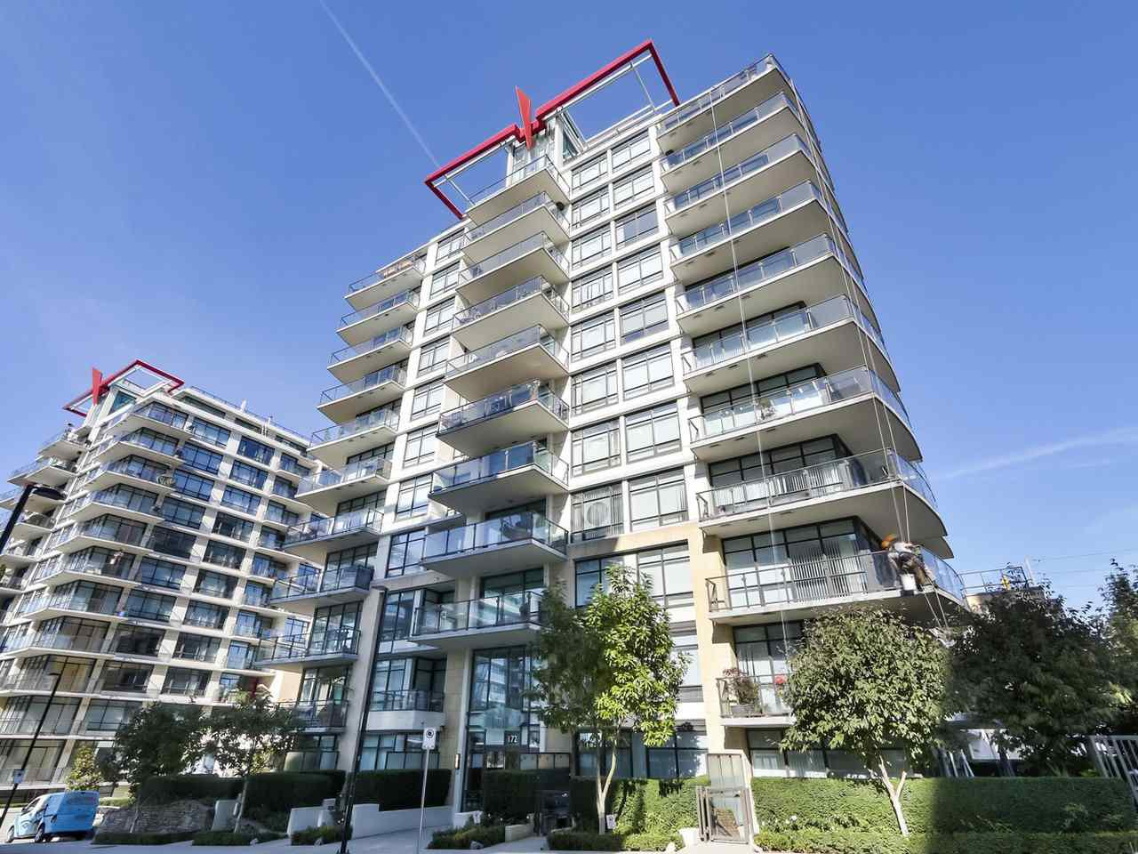 "Main Photo: 608 172 VICTORY SHIP Way in North Vancouver: Lower Lonsdale Condo for sale in ""Atrium at the Pier"" : MLS®# R2454404"
