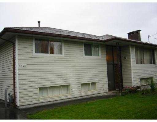 Main Photo: 3543 COAST MERIDIAN RD in Port Coquiltam: Glenwood PQ House for sale (Port Coquitlam)  : MLS®# V564128