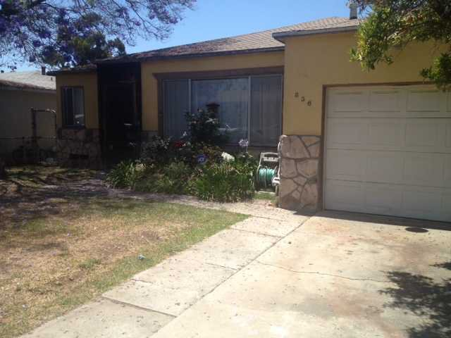 Main Photo: LOGAN HEIGHTS House for sale : 3 bedrooms : 836 West Street in San Diego