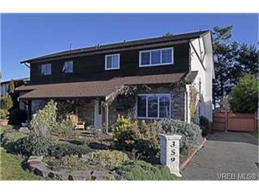 Main Photo: 359 Pooley Pl in VICTORIA: Es Old Esquimalt Half Duplex for sale (Esquimalt)  : MLS®# 454988