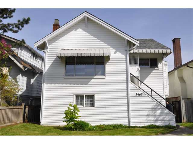 Main Photo: 3467 E 26TH Avenue in Vancouver: Renfrew Heights House for sale (Vancouver East)  : MLS®# V1002922