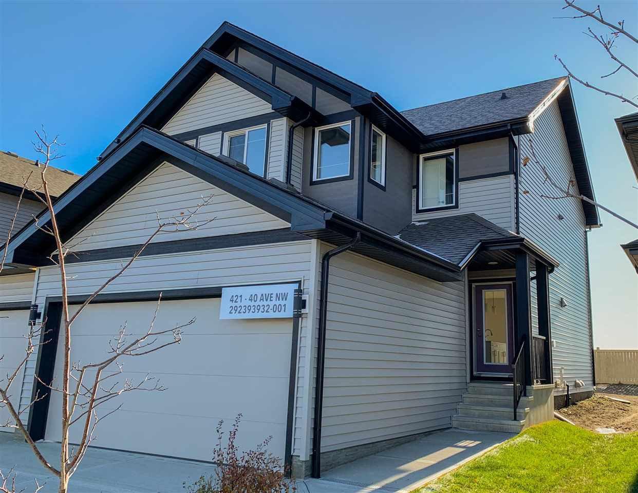 Main Photo: 421 40 Avenue in Edmonton: Zone 30 House Half Duplex for sale : MLS®# E4178568