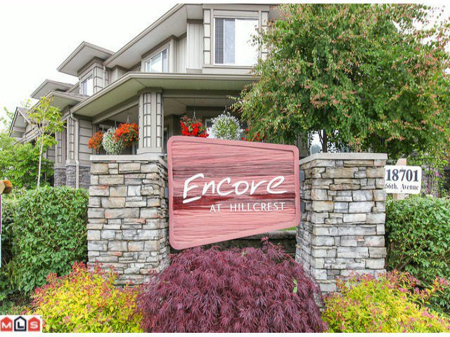 "Main Photo: 22 18701 66TH Avenue in Surrey: Cloverdale BC Townhouse for sale in ""ENCORE"" (Cloverdale)  : MLS®# F1215196"