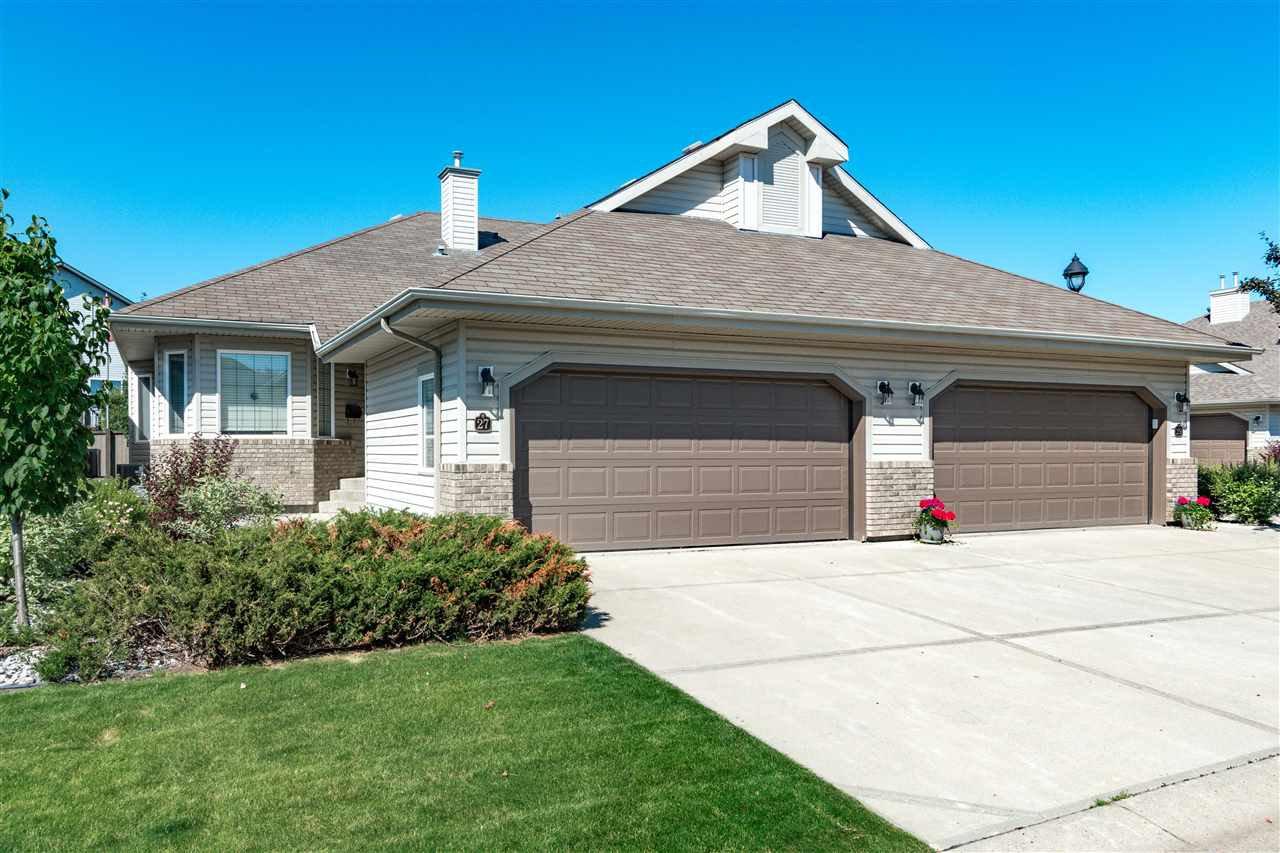 Main Photo: 27 55 CLARKDALE Drive: Sherwood Park House Half Duplex for sale : MLS®# E4207919