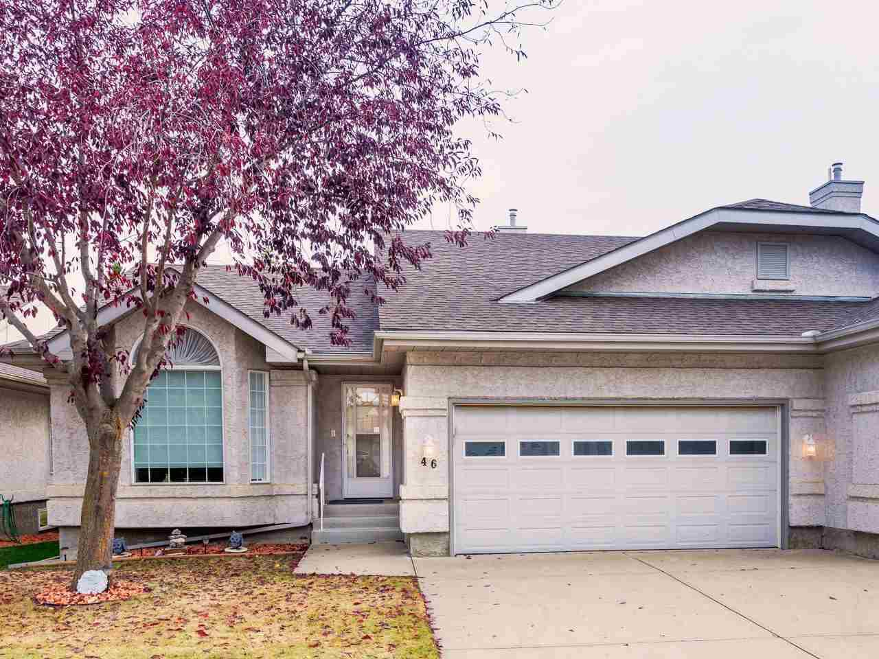Main Photo: 46 303 TWIN BROOKS Drive in Edmonton: Zone 16 House Half Duplex for sale : MLS®# E4217635