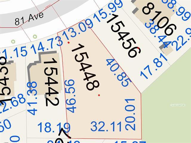 Main Photo: 15448 81 Avenue in Surrey: Fleetwood Tynehead Land for sale : MLS®# R2287476