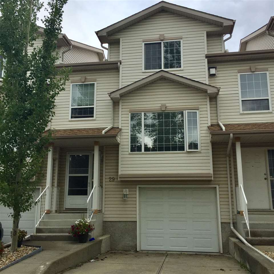 Main Photo: 29, 9935 167 Street in Edmonton: Zone 22 Townhouse for sale : MLS®# E4170526