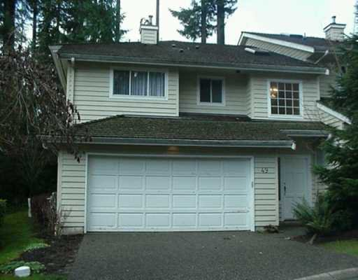 """Main Photo: 49 DEERWOOD PL in Port Moody: Heritage Mountain Townhouse for sale in """"Heritage Green"""" : MLS®# V573490"""