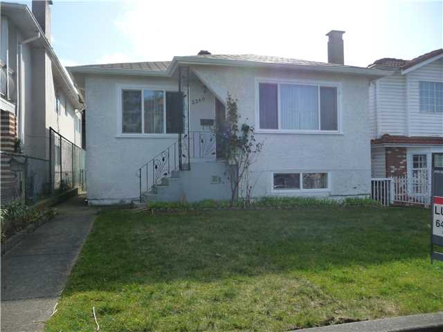 Main Photo: 2340 E 33RD Avenue in Vancouver: Collingwood VE House for sale (Vancouver East)  : MLS®# V935273