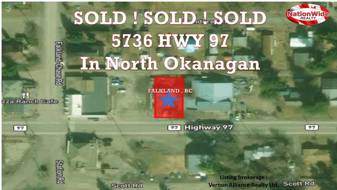 Main Photo: 5336 Hwy 97 in North Okanagan: Samon vly Land Commercial for sale : MLS®# 10191028