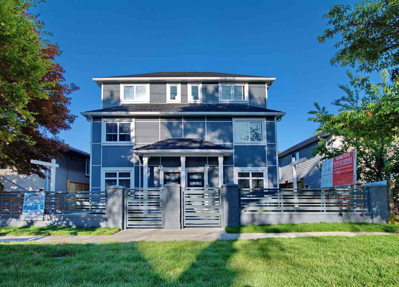 Main Photo: 5218 GLADSTONE STREET in Vancouver: Victoria VE House 1/2 Duplex for sale (Vancouver East)  : MLS®# R2322175