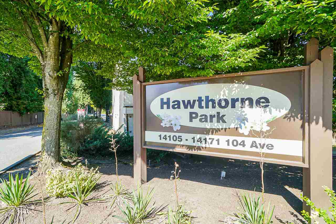 "Main Photo: 37 14111 104 Avenue in Surrey: Whalley Townhouse for sale in ""HAWTHORNE PARK"" (North Surrey)  : MLS®# R2488903"
