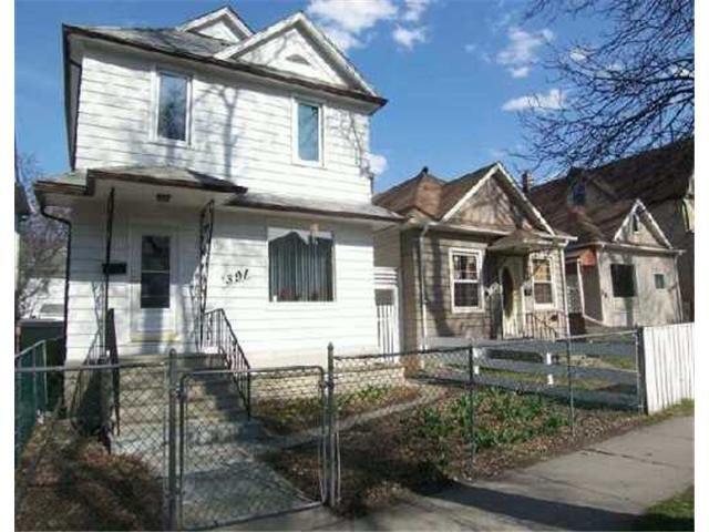 Main Photo: 391 Toronto Street in WINNIPEG: West End / Wolseley Residential for sale (West Winnipeg)  : MLS®# 1209693